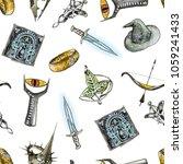watercolor seamless pattern... | Shutterstock . vector #1059241433