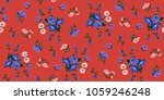 seamless floral pattern in... | Shutterstock .eps vector #1059246248