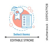 select items concept icon.... | Shutterstock .eps vector #1059247928