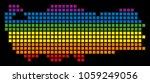 a pixel lgbt pride turkey map...   Shutterstock . vector #1059249056