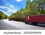 truck transportation on the road | Shutterstock . vector #1059249404