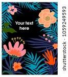 floral background. vector... | Shutterstock .eps vector #1059249593
