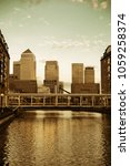 canary wharf business district... | Shutterstock . vector #1059258374