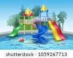 vector illustration of colored... | Shutterstock .eps vector #1059267713