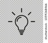 light bulb icon isolated on...