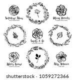 flower logo templates. floral... | Shutterstock .eps vector #1059272366