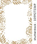 flower frame template for... | Shutterstock .eps vector #1059272369