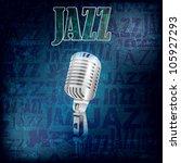 abstract grunge jazz background ... | Shutterstock .eps vector #105927293