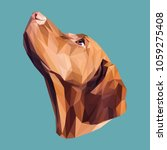 pointer low poly design.... | Shutterstock .eps vector #1059275408