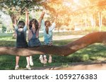 children friendship concept... | Shutterstock . vector #1059276383