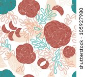 abstract flower seamless... | Shutterstock .eps vector #105927980