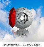 disc brakes  stopping the break ... | Shutterstock . vector #1059285284