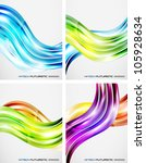 set of color wave backgrounds | Shutterstock .eps vector #105928634
