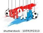 banner the inscription croatia... | Shutterstock .eps vector #1059292313