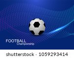 abstract football or soccer cup ... | Shutterstock .eps vector #1059293414