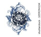 vector black and blue flower... | Shutterstock .eps vector #1059294134