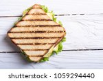 club sandwich with tomatoes  ... | Shutterstock . vector #1059294440