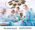 team surgeon at work in... | Shutterstock . vector #105929993