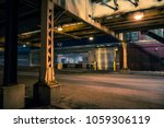 dark and eerie chicago urban... | Shutterstock . vector #1059306119