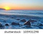 sunrise on a sea coast   Shutterstock . vector #105931298