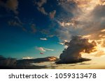 beautiful cloudy sky at the... | Shutterstock . vector #1059313478