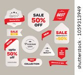 sale price tag with text banner ... | Shutterstock .eps vector #1059313949