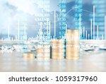 coin stacks   business money... | Shutterstock . vector #1059317960