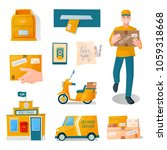 postal fast free service... | Shutterstock .eps vector #1059318668