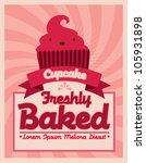 cupcake template vector... | Shutterstock .eps vector #105931898