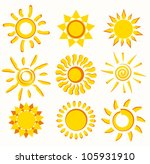 sun collection of vector symbols | Shutterstock .eps vector #105931910