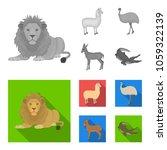lama  ostrich emu  young... | Shutterstock .eps vector #1059322139