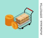 cryptocurrency and bitcoin... | Shutterstock .eps vector #1059327716