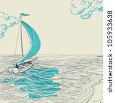 sailing vector background | Shutterstock .eps vector #105933638