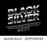 vector rotated black silver... | Shutterstock .eps vector #1059336563