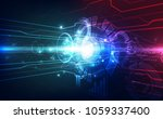 vector abstract. futuristic... | Shutterstock .eps vector #1059337400