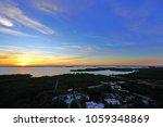 Orange sunset sky over the Estero Bay Aquatic Preserve off of Bonita Springs, Florida