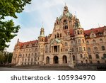 Stock photo neues rathaus new town hall in hannover germany 105934970