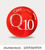 coenzyme q10. a substance for... | Shutterstock .eps vector #1059364934