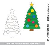 new year tree to be traced only ... | Shutterstock .eps vector #1059366170