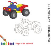 quad bike to be colored  the... | Shutterstock .eps vector #1059367544