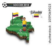 colombia national soccer team . ... | Shutterstock .eps vector #1059369023