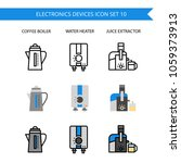 electronics device icon set.... | Shutterstock .eps vector #1059373913