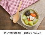 top view of winter melon soup... | Shutterstock . vector #1059376124