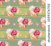 seamless floral pattern with... | Shutterstock .eps vector #1059376703