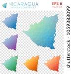 nicaragua geometric polygonal ...   Shutterstock .eps vector #1059383099