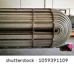 u tube heat exchanger is under... | Shutterstock . vector #1059391109