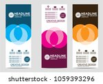 roll up banner stand template... | Shutterstock .eps vector #1059393296