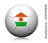 Niger Flag Pattern 3d rendering of a soccer ball - stock photo