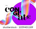 congrats vector card.... | Shutterstock .eps vector #1059401189