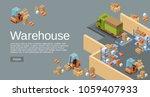 warehouse isometric 3d vector... | Shutterstock .eps vector #1059407933